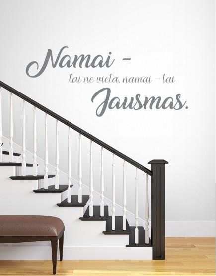 Namai - tai jausmas. Sienų dekoracija
