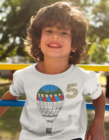 Oro balionas. Splavinami marškinėliai vaikams