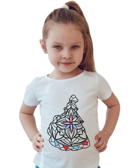 Princesė. Marškinėliai spalvinimui