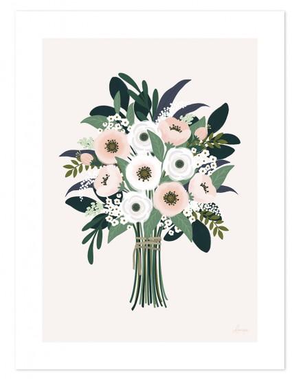 Stebuklinga gėlių puokštė. Paveikslas