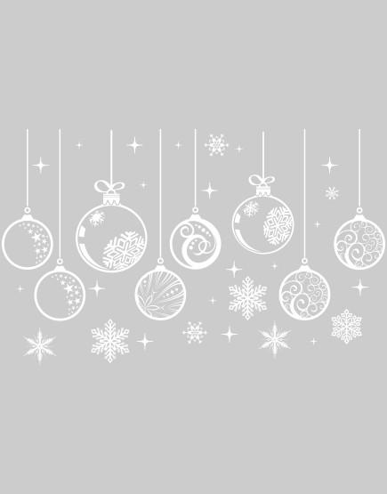 Burbulai ir snaigės. Kalėdinė langų dekoracija