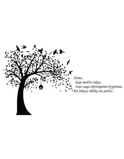 Šeimos medis. Stilinga interjero detalė