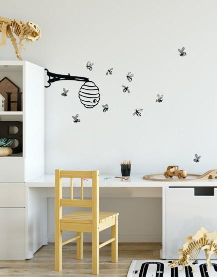 Bitės. Sienų dekoracija
