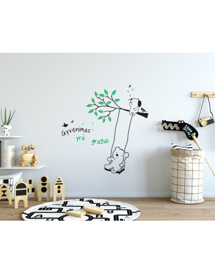 Gyvenimas yra gražus. Sienų dekoracija vaikams