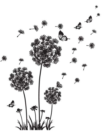 Pienės su drugeliais . Namų dekoracija