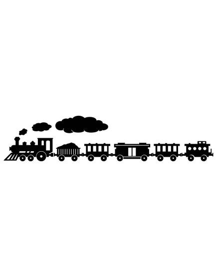 Traukinukas. Vaikiška sienų dekoracija