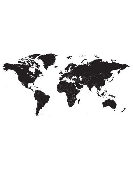 Pasaulio žemėlapis. Interjero detalė