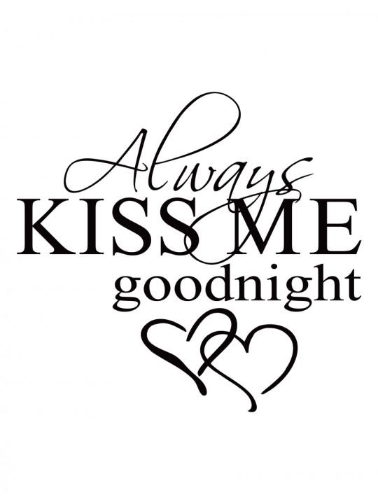 Kiss me. Miegamojo sienos dekoracija