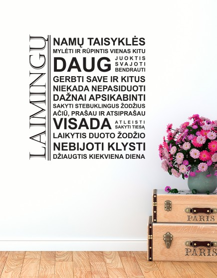 Laimingų namų taisyklės. Interjero Dekoracija